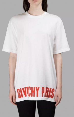 Givenchy Camisa holgada blanco-rojo