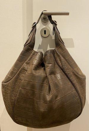 Givenchy Tote Schultertasche aus braunem Leder groß