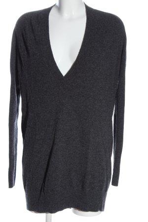 Givenchy Jersey con cuello de pico gris claro moteado look casual