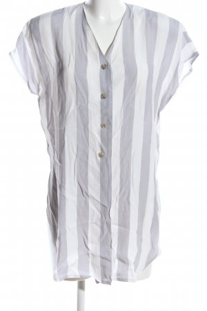 Givenchy Wraparound Blouse light grey-white striped pattern casual look