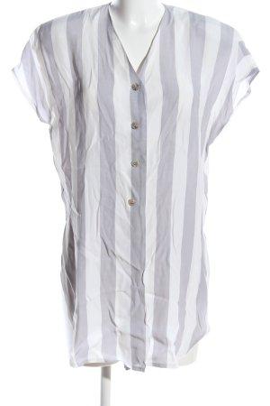 Givenchy Wickel-Bluse hellgrau-weiß Streifenmuster Casual-Look
