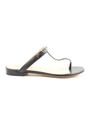 "Givenchy Sandales Dianette ""Elba Flat Thong Sandals"" noir"