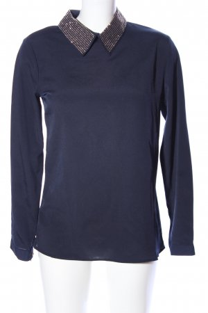 Schlupf-Bluse blau Casual-Look