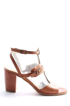 GKM High Heel Sandaletten braun Casual-Look