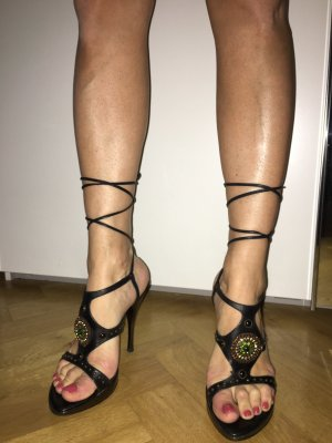 Gladiator High Heels mit Strass