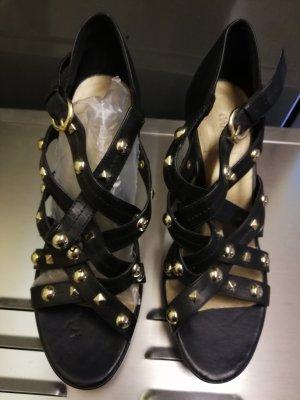 Catwalk Strapped Sandals black-gold-colored