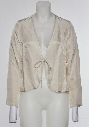 Glänzende Bluse mit Schnürdetail