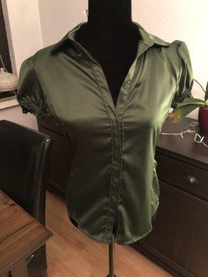 Glänzende grüne Bluse MANGO Gr S neuwertig