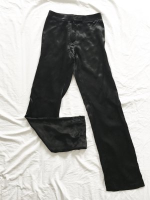 Pantalone a zampa d'elefante nero Tessuto misto