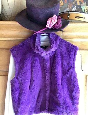 Mötivi Kamizelka ze sztucznym futrem fiolet-purpurowy