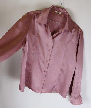 Glänzende Seidenbluse Bluse Laurel Größe M 38 Altrosa Flieder Seide
