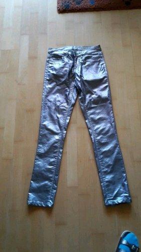 Glänzende Skinny Jeans Gr 38