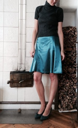 Orsay Flared Skirt cadet blue-petrol polyester