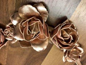 Glänzender Metallic Rose Gold Haarschmuck Tracht Dirndl