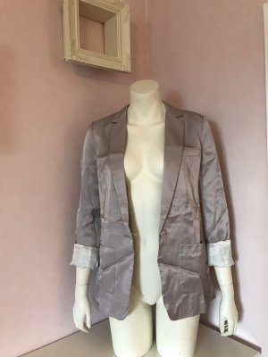 H&M Boyfriend Blazer beige-natural white viscose