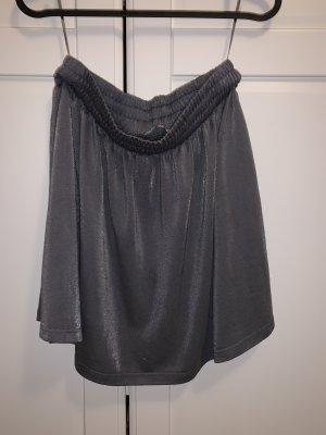 Pieces Tulip Skirt silver-colored-grey