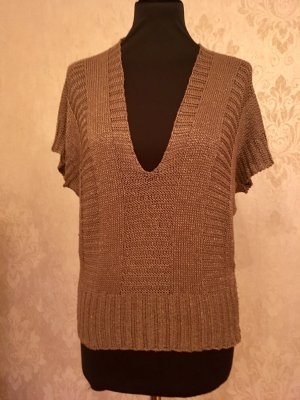 Fine Knitted Cardigan grey brown