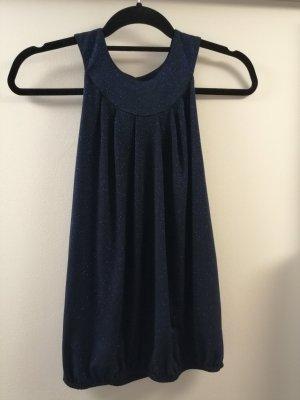 Promod Blusa brillante azul oscuro Poliéster