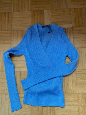 Chemise côtelée bleu acier