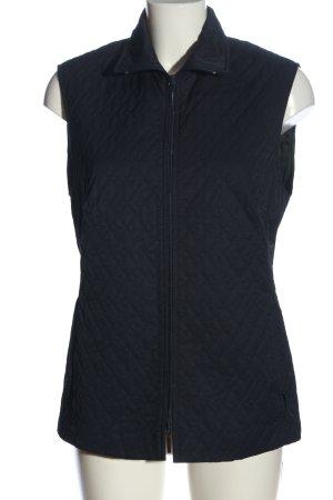 Gläser Gewatteerd vest zwart quilten patroon casual uitstraling