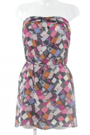 Glam Bandeau Dress abstract pattern