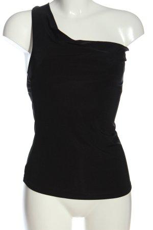 Glam Collection Haut avec une épaule dénudée noir style décontracté