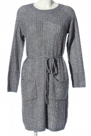 Glam Collection Sweaterjurk lichtgrijs gestippeld casual uitstraling