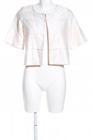 Glam Kurz-Blazer weiß Punktemuster Casual-Look