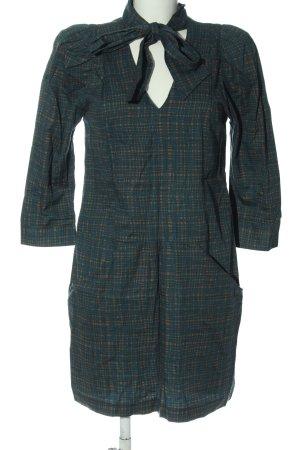 Glam Longsleeve Dress blue-brown allover print casual look