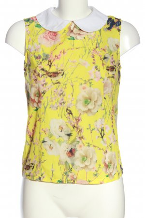 Glamorous ärmellose Bluse blassgelb Allover-Druck Casual-Look