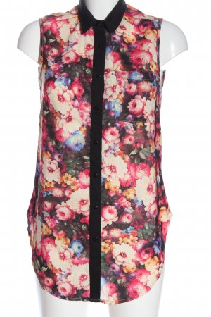 Glamorous Sleeveless Blouse pink-natural white allover print casual look