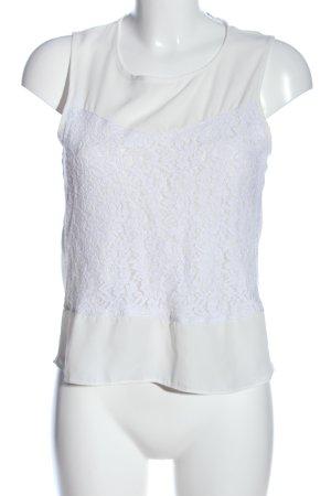 Glamorous ärmellose Bluse weiß Casual-Look