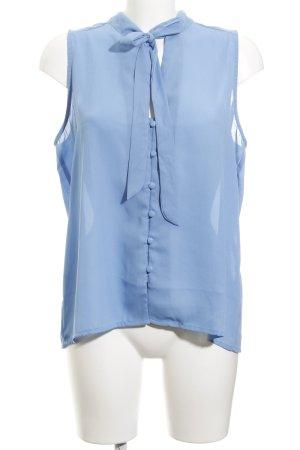 Glamorous ärmellose Bluse kornblumenblau-himmelblau Business-Look