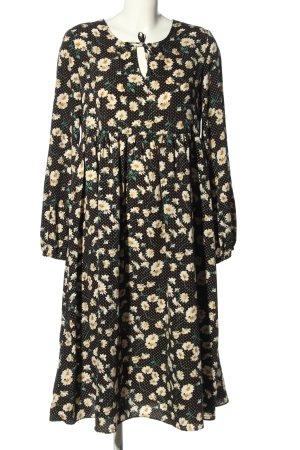 Glamorous Blusenkleid schwarz-wollweiß Allover-Druck Casual-Look