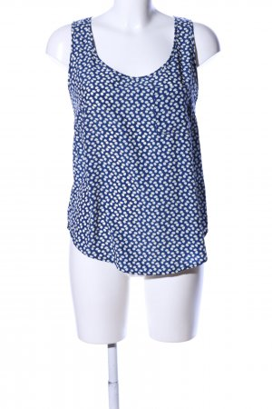 Glamorous Blouse topje blauw-wit volledige print zakelijke stijl
