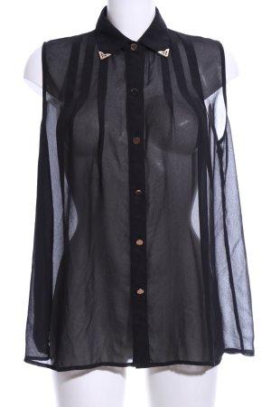 Glamorous Blusentop schwarz extravaganter Stil
