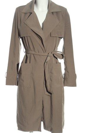 Glamorous Cappotto lungo fino a terra grigio chiaro stile professionale