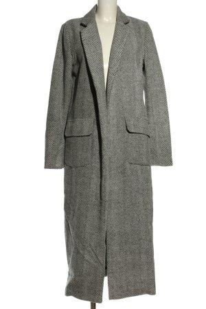 Glamorous bodenlanger Mantel weiß-schwarz Streifenmuster Casual-Look