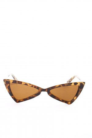 Glamorous Brille braun Allover-Druck Elegant