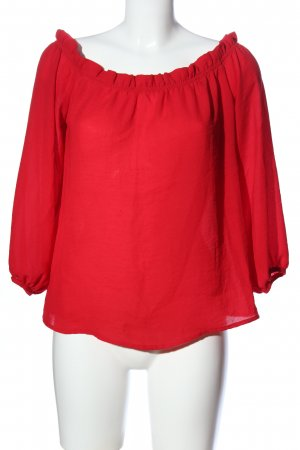 Glamorous Carmen blouse rood casual uitstraling