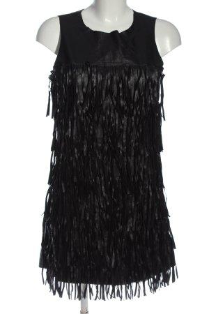 Glamorous Fransenkleid schwarz Streifenmuster Casual-Look