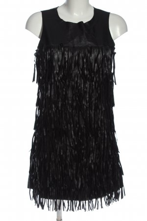 Glamorous Vestido con flecos negro estampado a rayas look casual