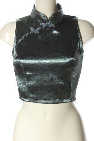 Glamorous Glanzbluse khaki Glanz-Optik