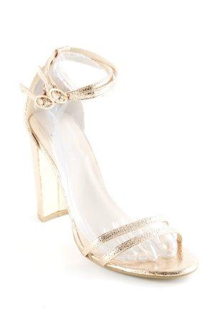 Glamorous High Heel Sandaletten bronzefarben Glitzer-Optik