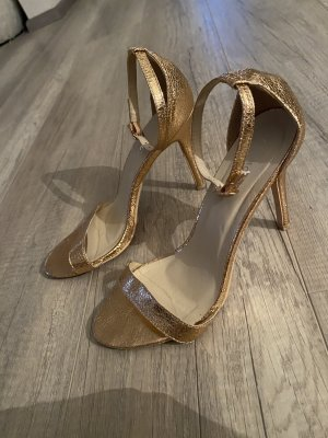 Glamorous High heels rosegold Style Blogger Absatz