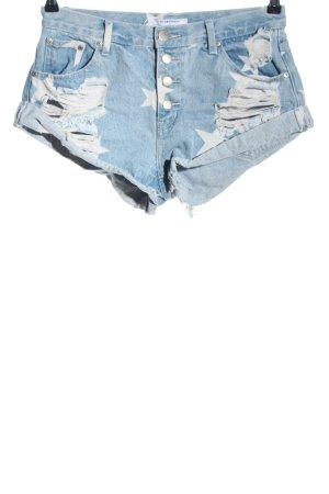 Glamorous High-Waist-Shorts blau Party-Look
