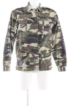 Glamorous Jeansjacke Camouflagemuster Glitzer-Optik