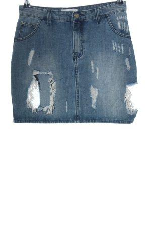 Glamorous Jeansrock blau extravaganter Stil