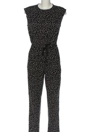 Glamorous Jumpsuit schwarz-weiß Allover-Druck Casual-Look