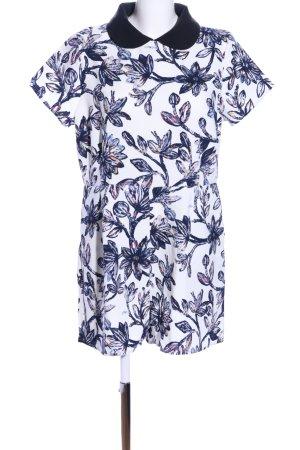 Glamorous Jumpsuit weiß-blau Allover-Druck Casual-Look